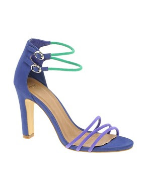 Image 1 ofASOS HAIRSPRAY Heeled Sandals with Colour Block