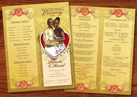 8  Wedding Event Program Templates   PSD, Vector EPS, AI