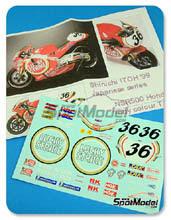 Calcas 1/12 Ragged Edge Designs - Honda NSR500 Lucky Strike - Nº 36 - Itoh 1999
