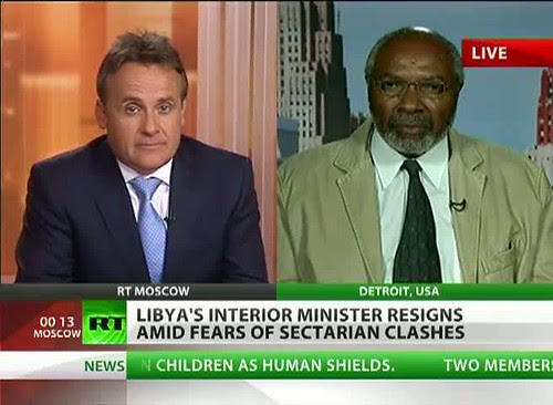 Abayomi Azikiwe, editor of the Pan-African News Wire, featured on Russia Today satellite television news. Azikiwe is a frequent commentator and analyst on various media outlets internationally. by Pan-African News Wire File Photos