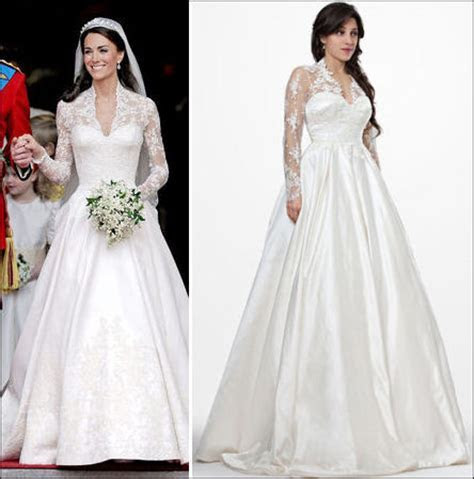 Replica of Wedding Gown Kate Middleton Marketed to the U.S