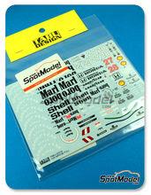 Calcas 1/20 Tabu - McLaren Honda MP4/5B Marlboro Shell - Nº 27, 28 - Ayrton Senna, Gerhard Berger - Campeonato del Mundo 1990 para kit de Tamiya