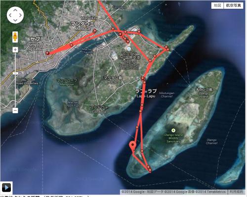 GPSの履歴