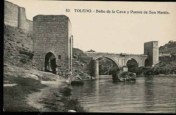 Baño de la Cava (Toledo) a principios del siglo XX. Foto H.A.E.
