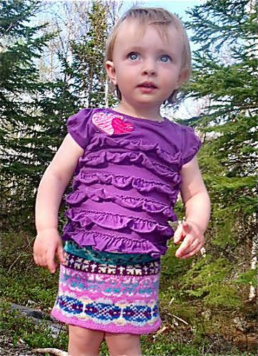 jupe tricotée enfant des prairies