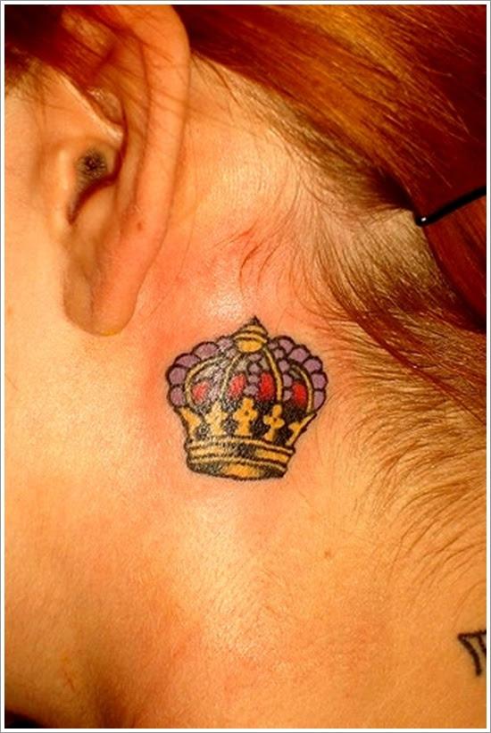 21 Wonderful Queen Neck Tattoos