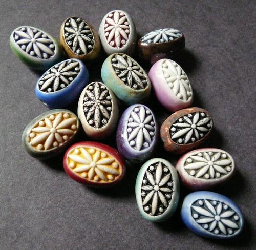 Porcelain Egg Beads