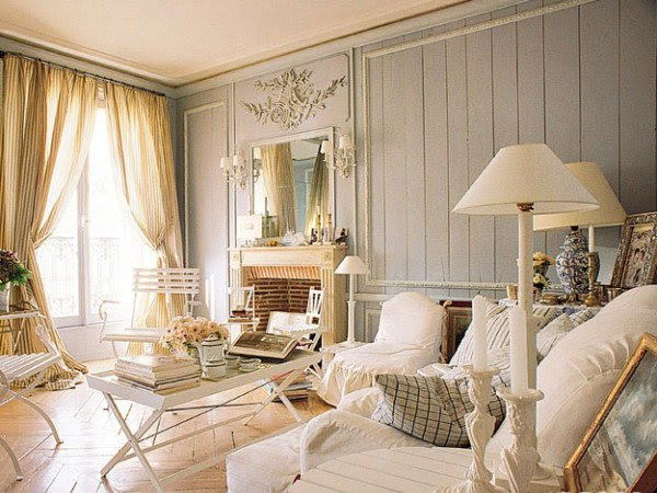 Distressed yet Pretty White Shabby Chic Living Rooms   Home Design ...