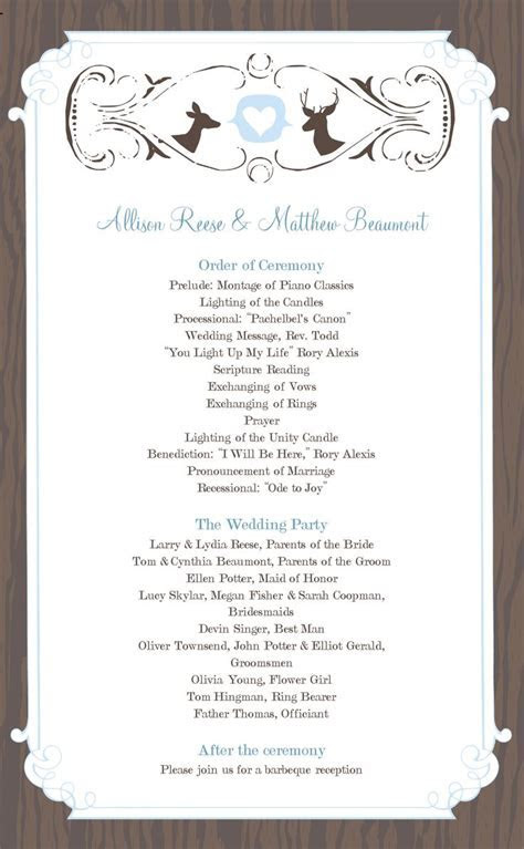 13 best Wedding Programs images on Pinterest   Wedding
