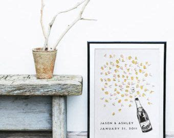 Wedding Guest Book Alternative, sprinkles donut, w/4 inks