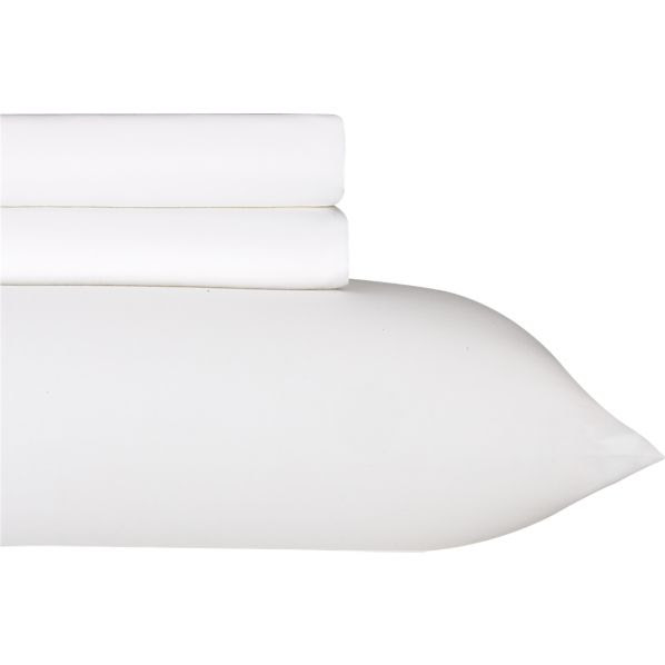 Sateen White Extra Long Twin Sheet Set in Outlet Bed & Bath ...