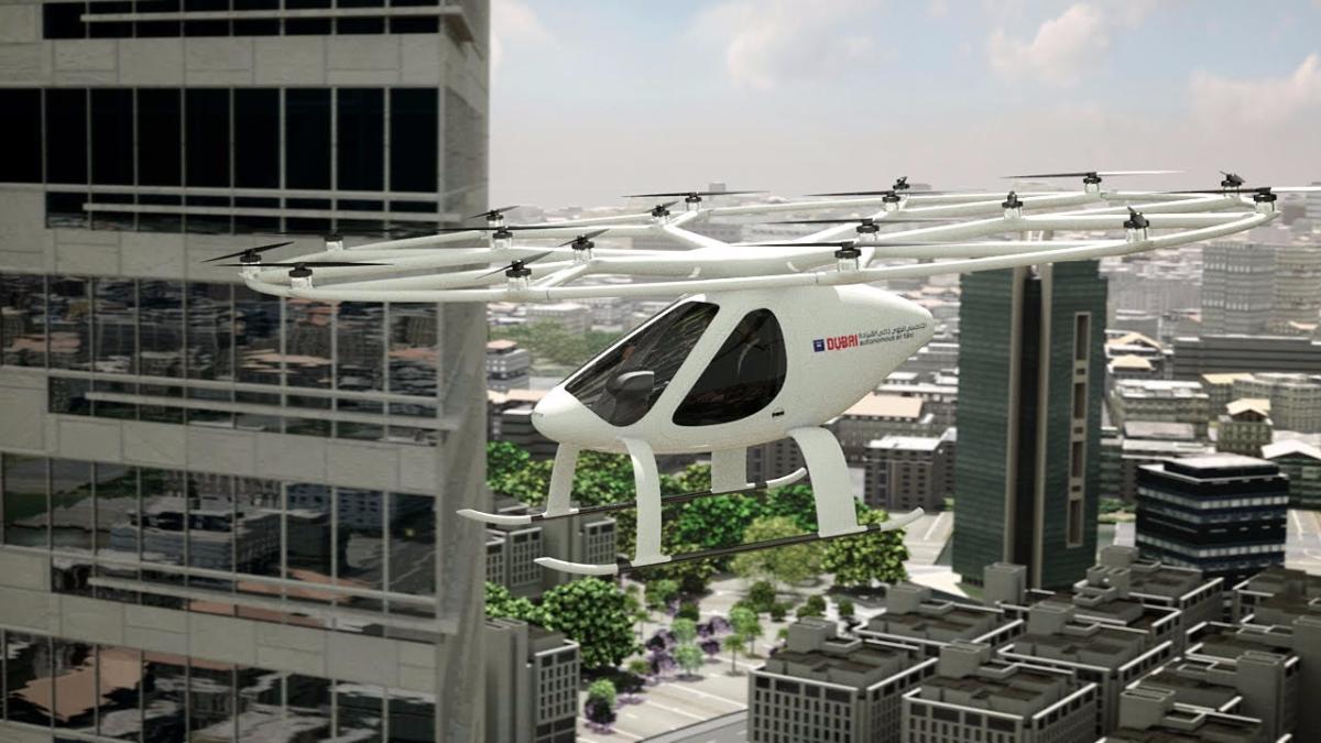El video muestra cómo operaría el aerotaxi en Dubai.