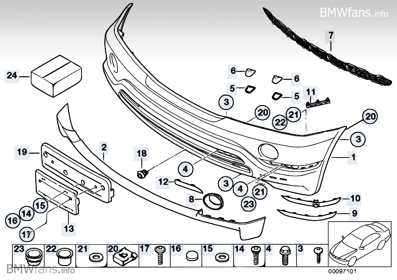 Bmw Front Bumper Parts Diagram