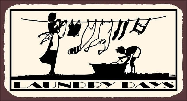 Laundry Days Clothesline Child Laundry Room by vintagemetalart