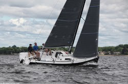 J/88 sailing on Long Island Sound