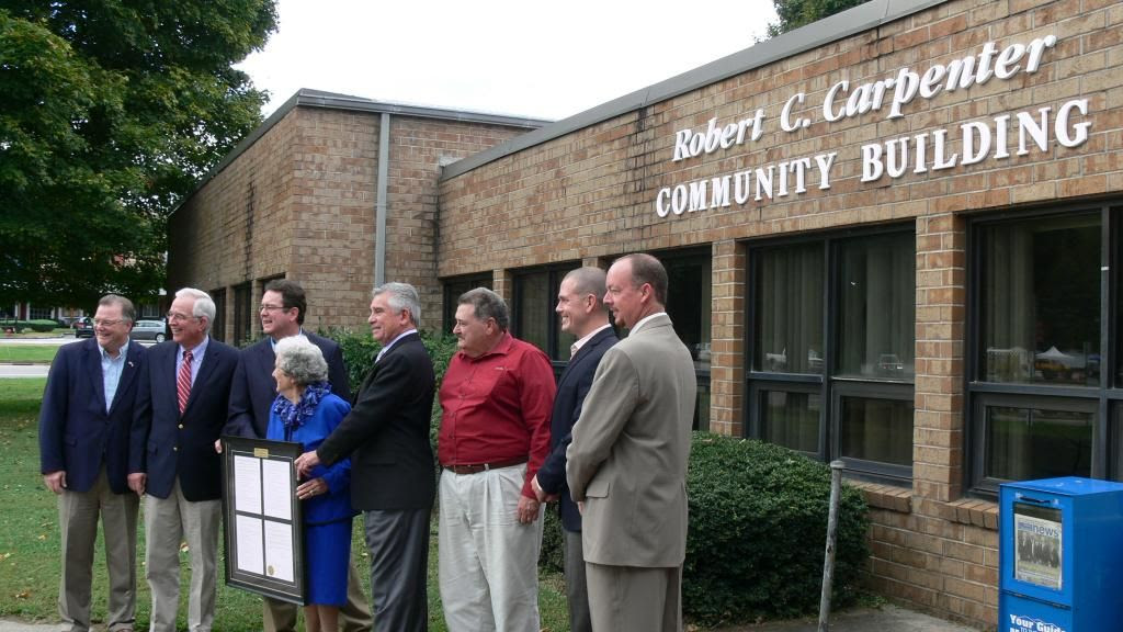 Dignitaries at the Robert C Carpenter Building Dedication Photo Copyright 2014 by Bobby Coggins