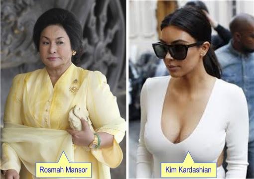 Rosmah Mansor and Kim Kardashian
