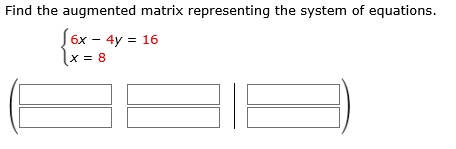 Solved: Find The Augmented Matrix Representing The System ...   Chegg.com