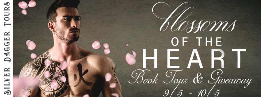 Book Tour Banner for contemporary romance Blossoms of the Heart by Khardine Gray  with a Book Tour Giveaway