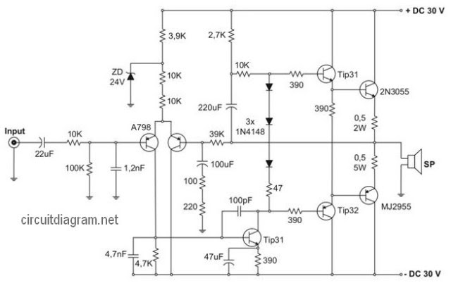 400w Amplifier Circuit Diagram