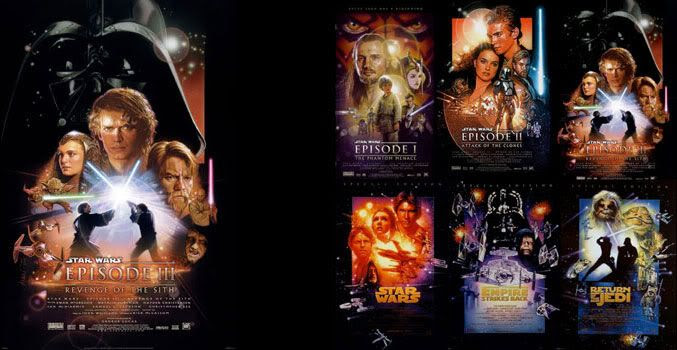 Star Wars Episode III poster and montage