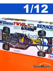 Tamiya: Maqueta de coche escala 1/12 - Williams Renault FW14B Canon Nº 5, 6 - Nigel Mansell, Riccardo Patrese - Campeonato del Mundo 1992 - maqueta de plástico