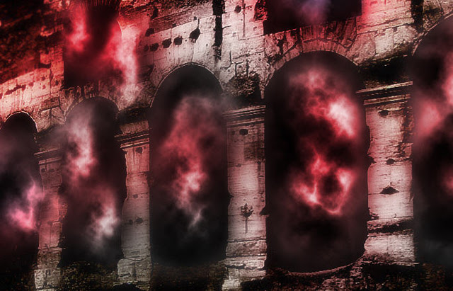 Make a Devil May Cry Insipred Dark Portal Scene in Photoshop image 14