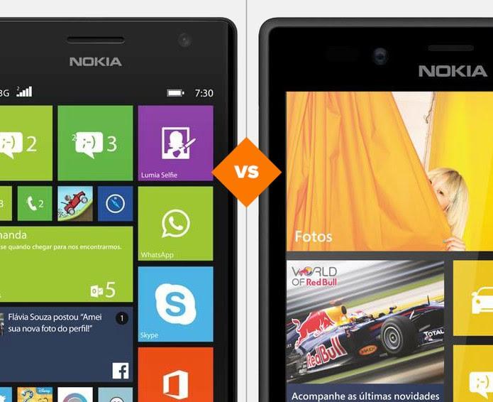 Lumia 720 ou Lumia 730? Quem se sai melhor no comparativo do TechTudo? (Foto: Arte/TechTudo)