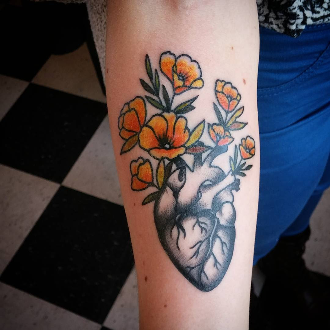 110+ Best Anatomical Heart Tattoo Designs & Meanings - (2019)