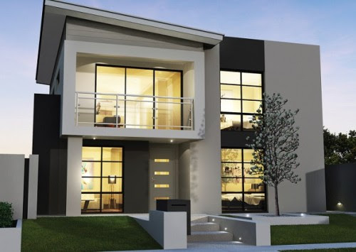 Rumah minimalis 2 lantai type 90 bergaya modern (Rumahminimalis2lantai