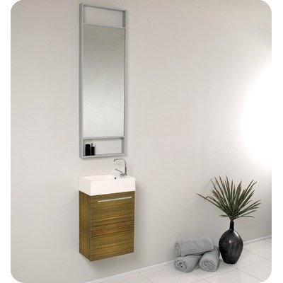 narrow bathroom vanity: pulito small modern bathroom