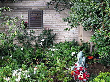 Walt Disney's private garden and grave site at...