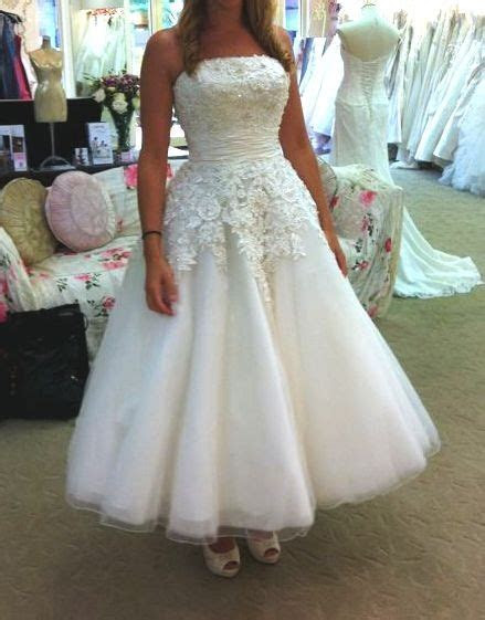 53 best Justin Alexander Tea Length Wedding Dress 8465