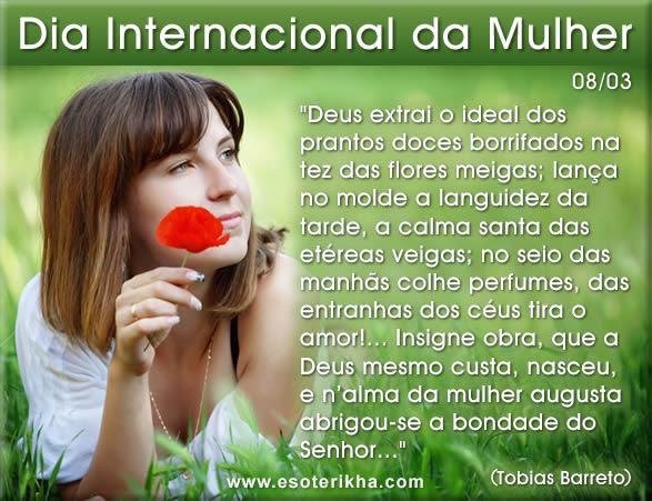 Dia Internacional da Mulher 8 de março mensagens