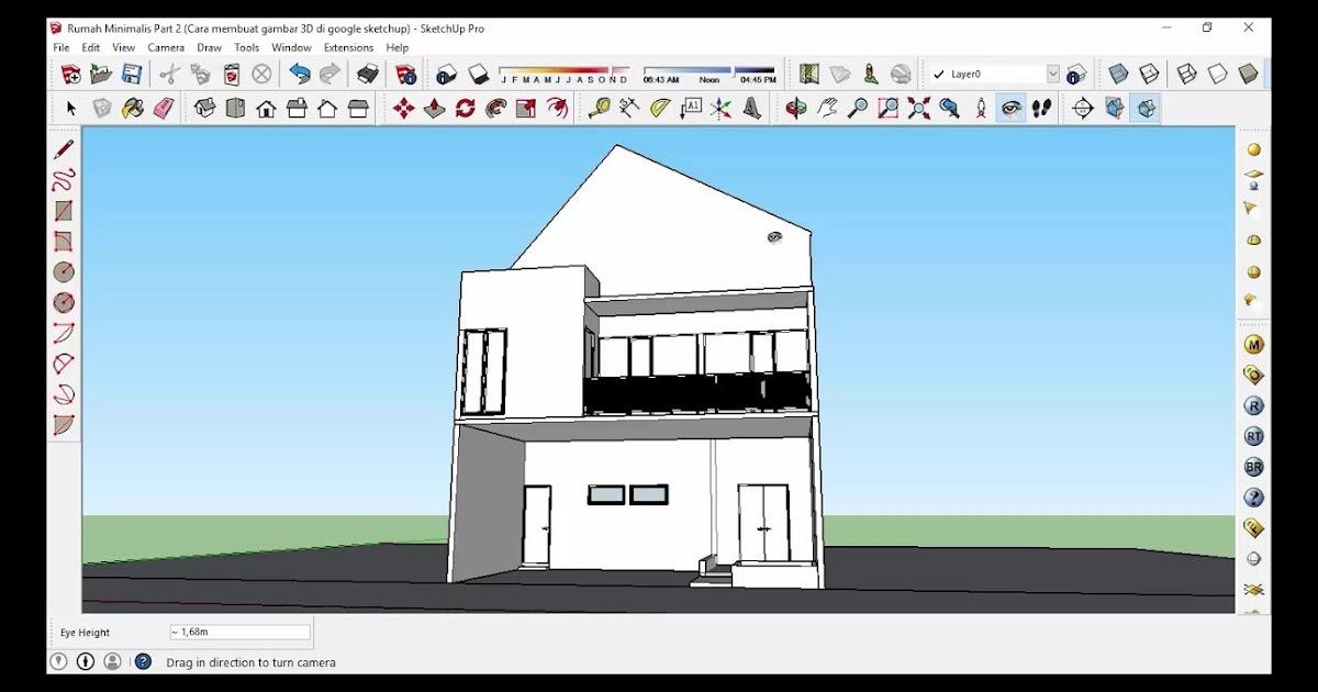 Most Wanted Cara Membuat Denah 3d Di Sketchup Desain Rumah Minimalis