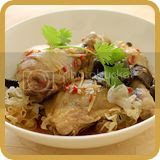 Steamed Chicken with Salted Fish & Fungus