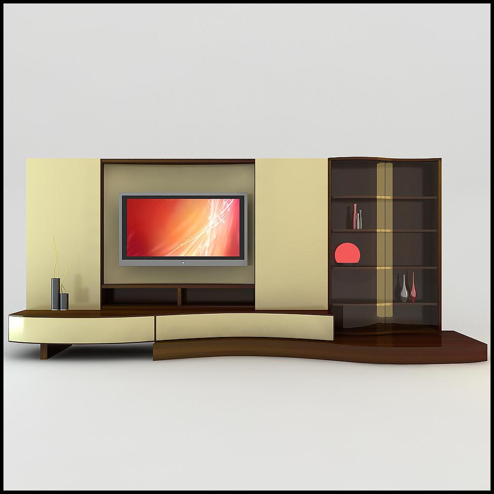 TV / Wall Unit Modern Design X_17 3D Model .max .obj .3ds .c4d ...