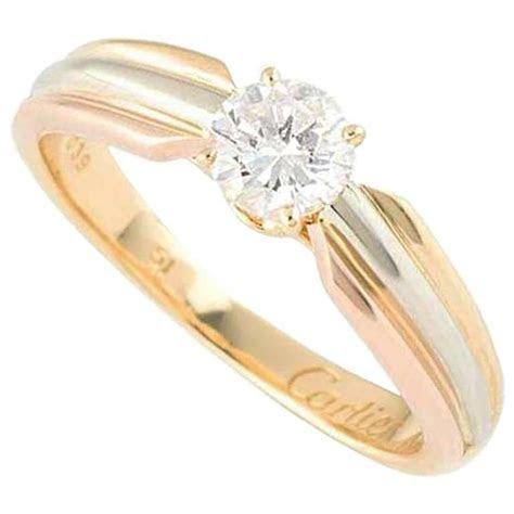 Cartier Trinity Radiant Diamond Gold Platinum Engagement