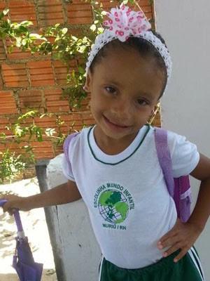 Evelyn Vitória de 4 anos foi baleada e morreu no local (Foto: Reprodução/Arquivo da família)
