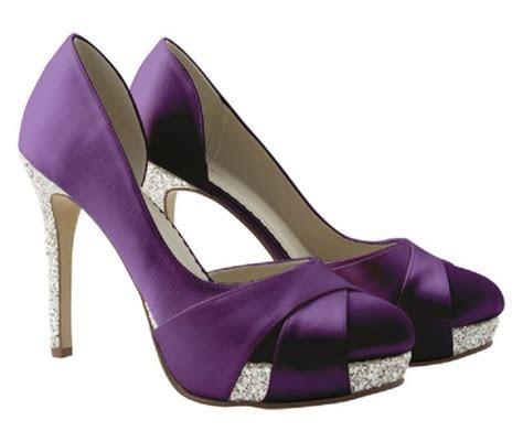 Christy ~ Deep Purple Satin & Silver Bride~Bridesmaid