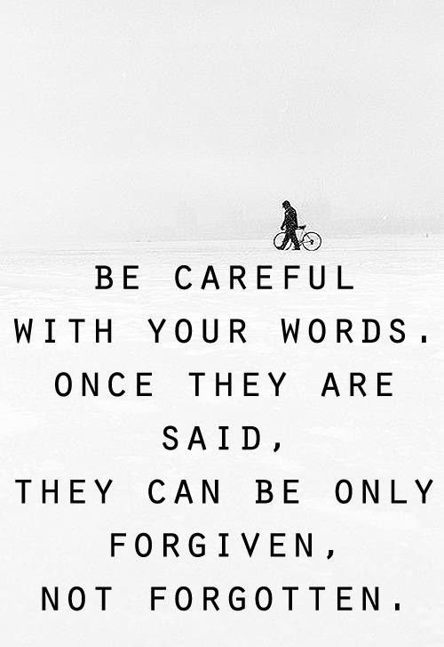 Be Careful With Your Positive Quotes Inspiration Positive Words