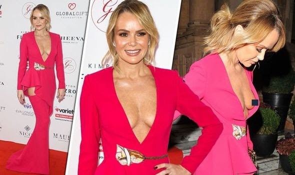 Amanda Holden: BGT judge unveils incredible cleavage in low-cut frock at Global Gift Gala