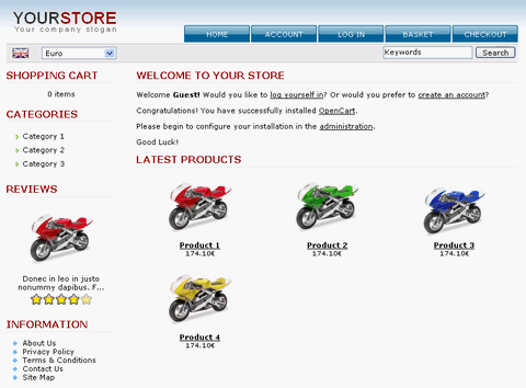 OpenCart - Free Opensource shopping cart site
