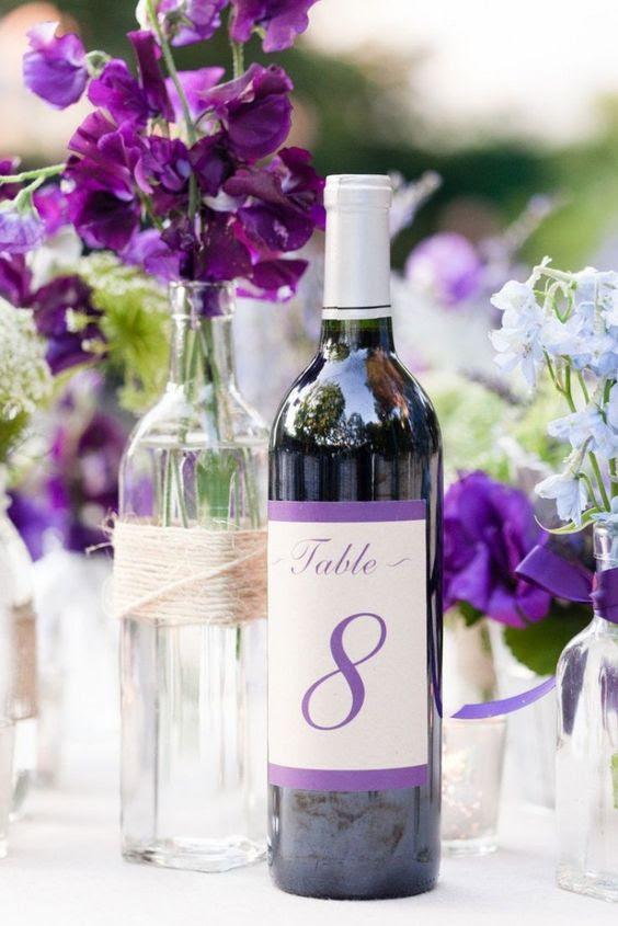 A Magical Wedding Outdoor Purple Wedding Reception Ideas