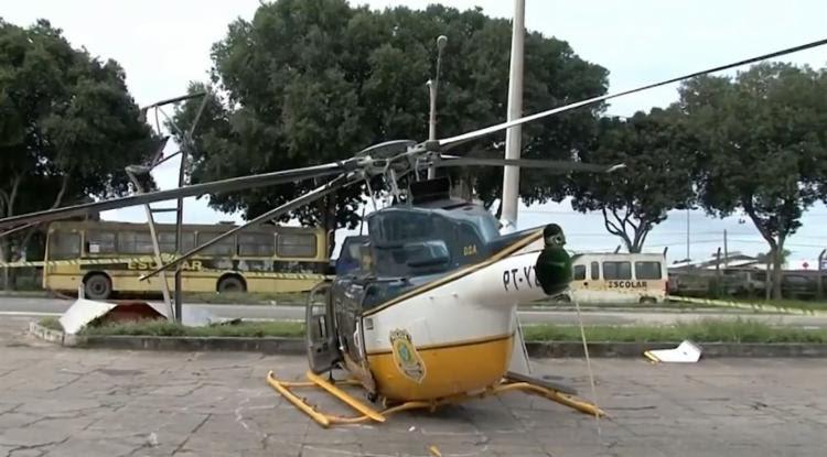A aeronave iria participar de uma operação em Eunápolis - Foto: Reprodução | Rede Bahia