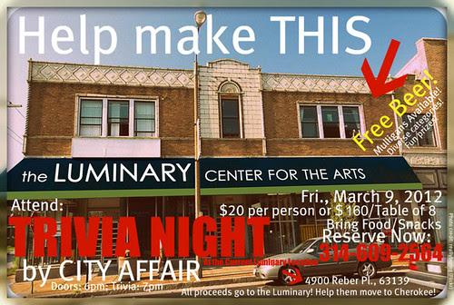 TRIVIA NIGHT for Luminary Center for the Arts