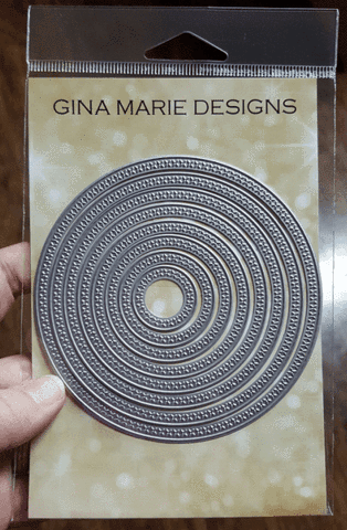 Cross Stitched Circles by Gina Marie Designs