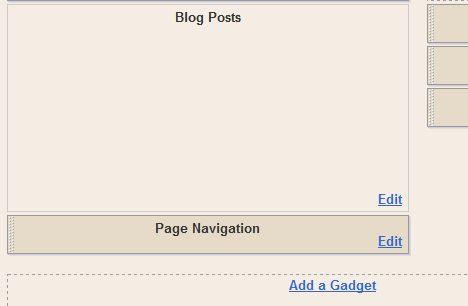Location of Page Navigation Gadget