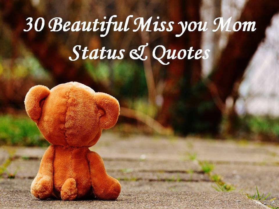 30 Beautiful Miss You Mom Status Quotes
