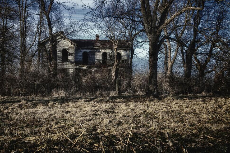 Old spooky and abandoned home
